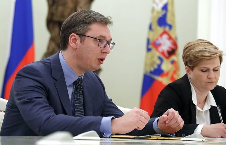 Премьер Сербии поблагодарил Владимира Путина за всестороннюю поддержку