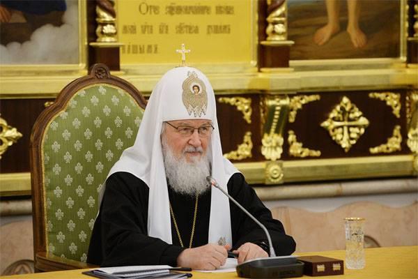 Il patriarca Kirill ha espresso l'opinione dei colpevoli dei sanguinosi eventi del XX secolo