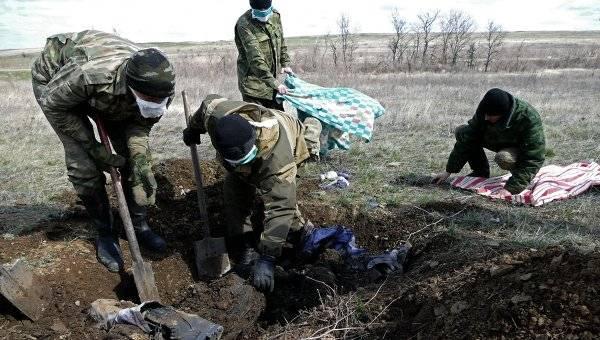 Eine spezielle Gruppe der Streitkräfte der Ukraine ist im Donbass eingetroffen, um Hunderte von Toten zu exhumieren