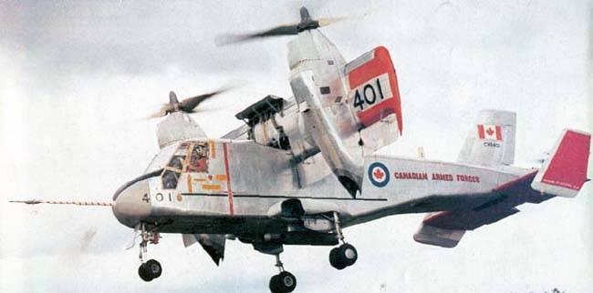 Конвертоплан Canadair CL-84 Dynavert (Канада)