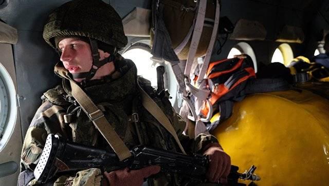 Под Витебском проходит российско-белорусское учение десантников