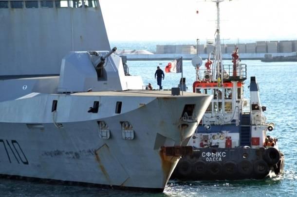 """В Одесский порт зашёл французский фрегат класса """"La Fayette"""""""