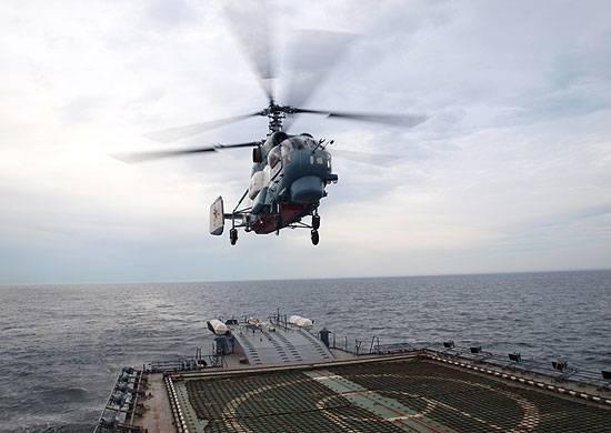 Минобороны тестирует систему автоматической посадки палубных вертолетов