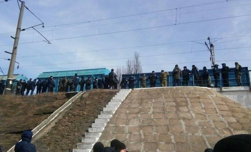 Украинские радикалы разблокировали ж/д пути в Конотопе