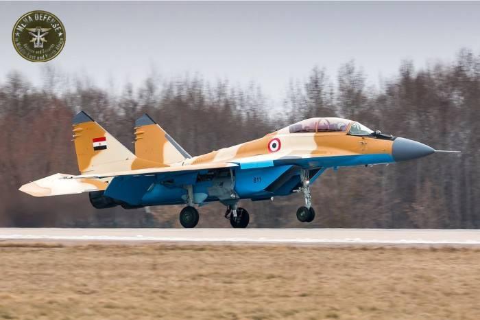 """Миг-29М2 в """"египетской"""" окраске """"засветился"""" в сети"""