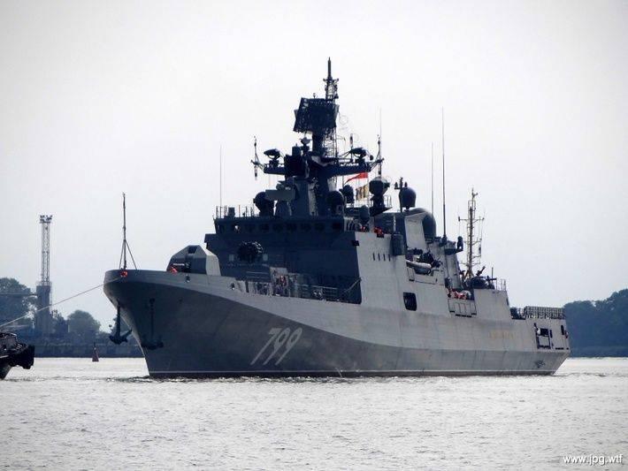 """Фрегат """"Адмирал Макаров"""" вышел на заключительные испытания"""