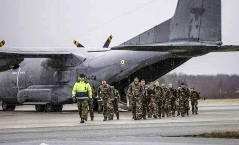 Очередная группа французских военных прибывает в Эстонию