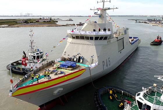 В Испании спущен на воду пятый сторожевой корабль класса BAM