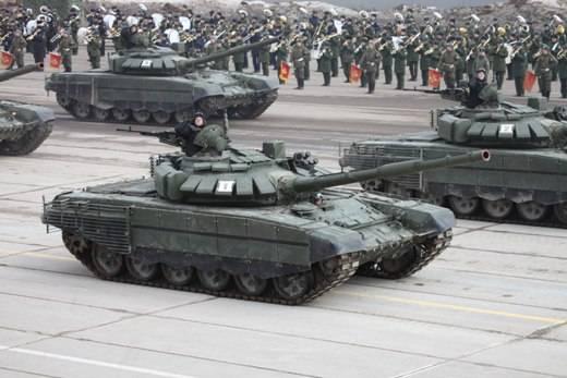 T-72B3 nouvelle modification à la répétition du défilé à Alabino