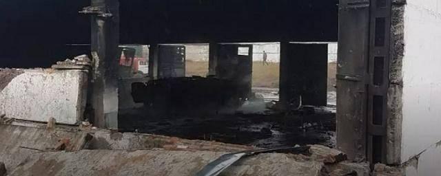 Пожар и взрывы на территории воинской части в Уссурийске