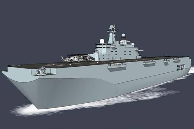 Китай приступил к строительству вертолетоносного корабля-дока