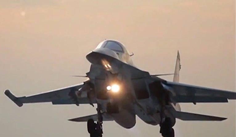Су-34 провели бомбометание на полигоне в Воронежской области