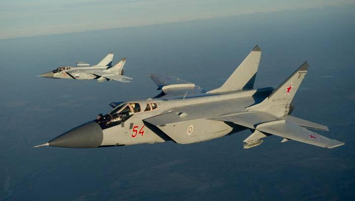 МиГ-31 совершили перелет с Приморья на Камчатку