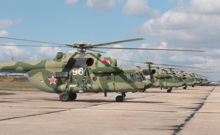 Завершены поставки ВВС Белоруссии вертолетов Ми-8МТВ-5