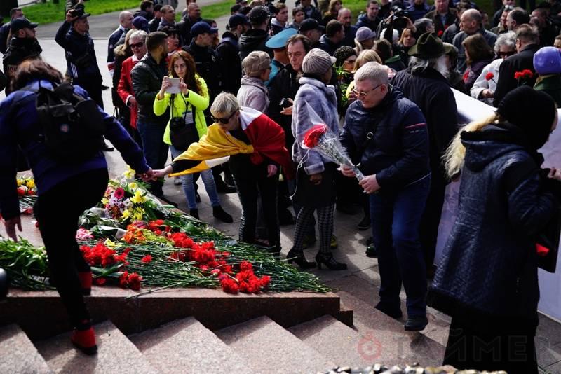 Беспорядки в Одессе в день 73-летия освобождения города от гитлеровцев