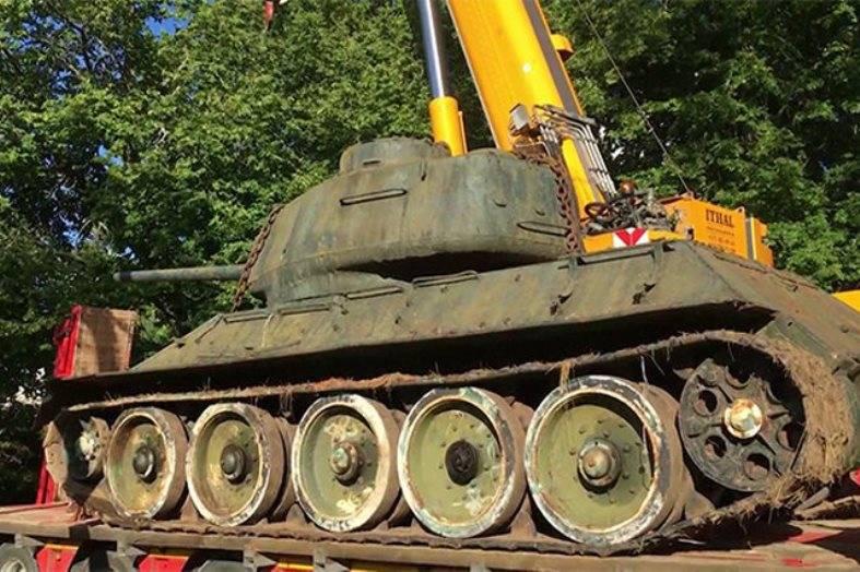 Эстонский коллекционер спас от утилизации Т-34, участвовавший во встрече на Эльбе