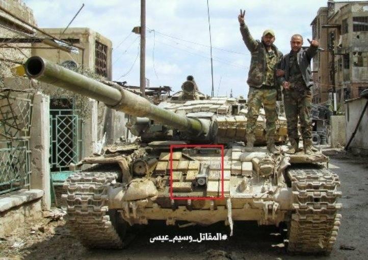 Новые усовершенствования танков Т-72 в Сирии
