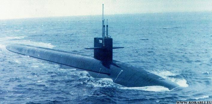Ein US-U-Boot vom Typ Ohio kommt auf der koreanischen Halbinsel an