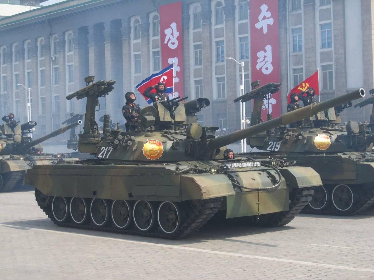 Военная техника на параде в Пхеньяне