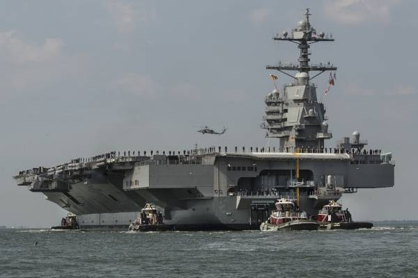 """Aircraft carrier """"Gerald Ford"""" finished sea trials"""