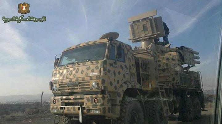 Уничтожение турецкого «Фантома» сирийским «Панцирь-С1»