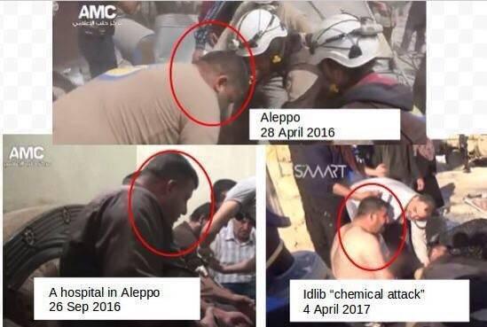 «доказательствами» химатаки вСирии остаются ролики «Белых касок»