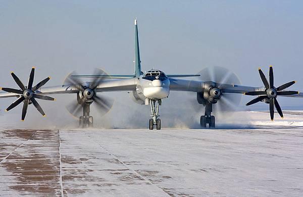American F-22 izado para interceptar Tu-95MS en el área de Alaska