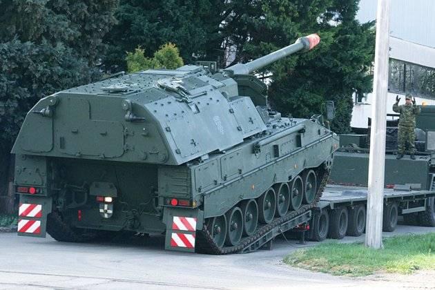 Хорватия получила первые немецкие гаубицы PzH-2000