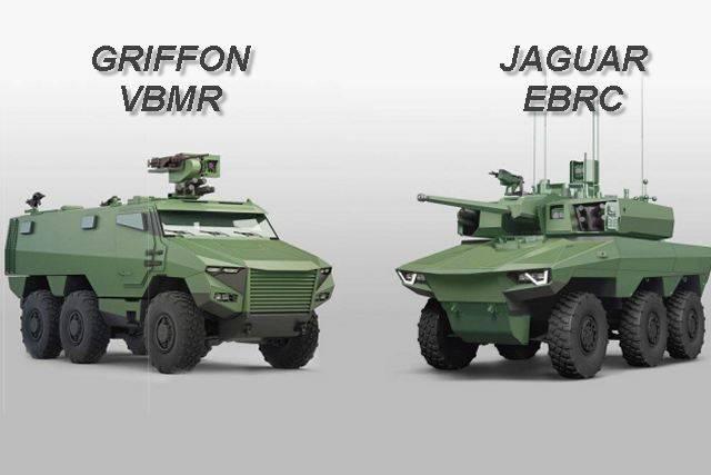 Франция перевооружается на боевые машины Griffon VBMR и Jaguar EBRC