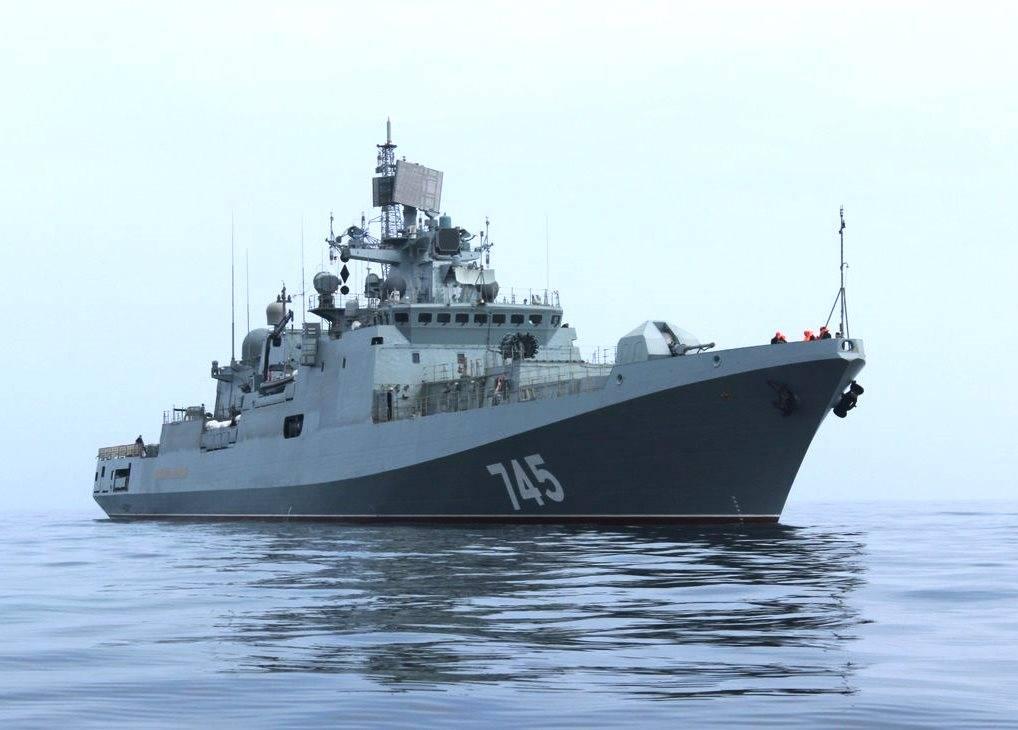 «Адмирал Григорович» выполнил стрельбу понадводным мишеням вСредиземном море