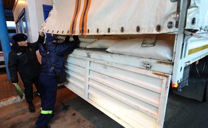 В Донбасс отправилась очередная колонна с гумпомощью