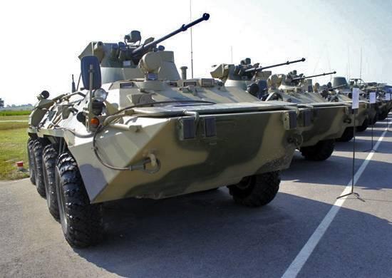 В войска ЗВО поступило более 140 новых бронетранспортеров