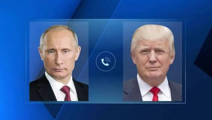 Vladimir Putin and Donald Trump talked on the phone