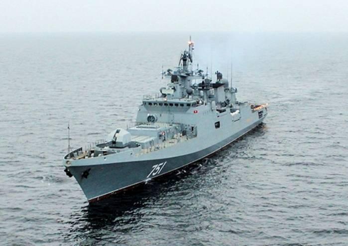 """Фрегат """"Адмирал Эссен"""" усилил постоянное соединение ВМФ РФ в Средиземном море"""