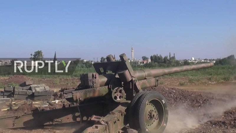 ВПентагоне узнали опереброске русской артиллерии вСирию