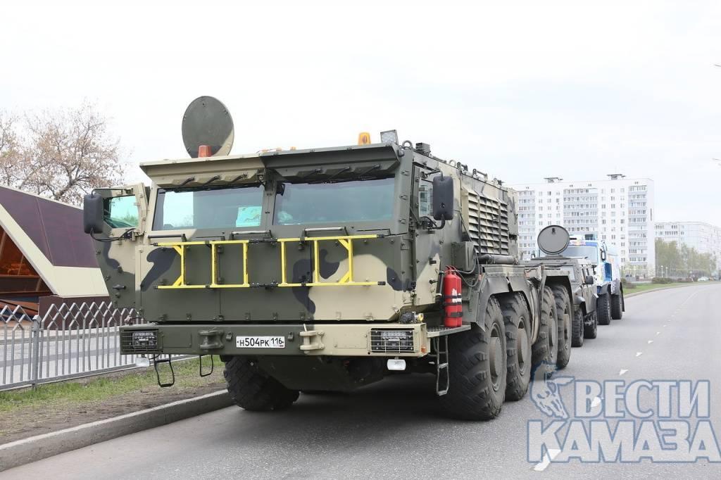 КамАЗ продемонстрировал тайные тягачи для ракетных систем