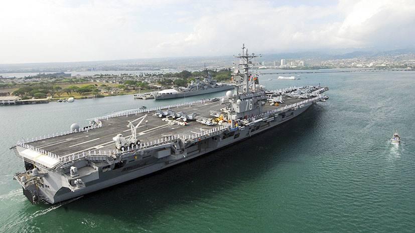 Ударная группа ВМС США неможет выйти вморе из-за поломки авианосца