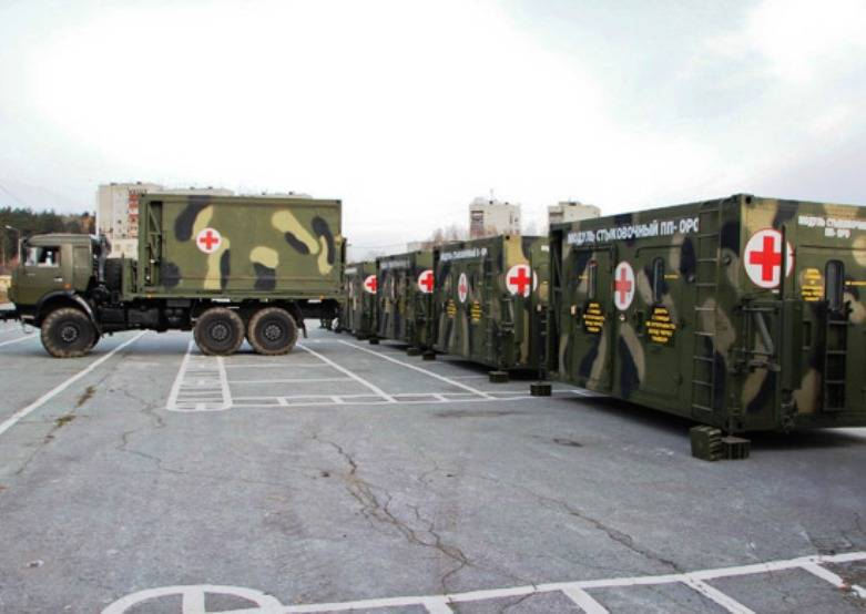 A new mobile hospital entered the Central Military District