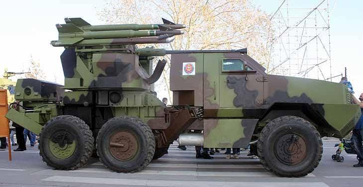 Зенитный ракетно-пушечный комплекс PASARS-16 Terminator (Сербия)
