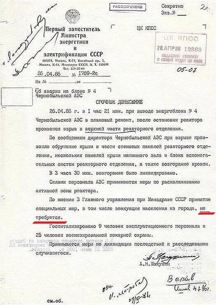 Çernobil defteri. 5'in bir parçası