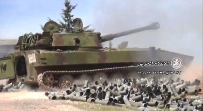 В Сирии активно применяются САУ 2С1 «Гвоздика»