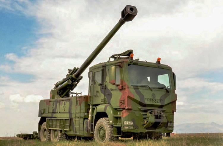 Самоходная артиллерийская установка T-155 Yavuz (Турция)