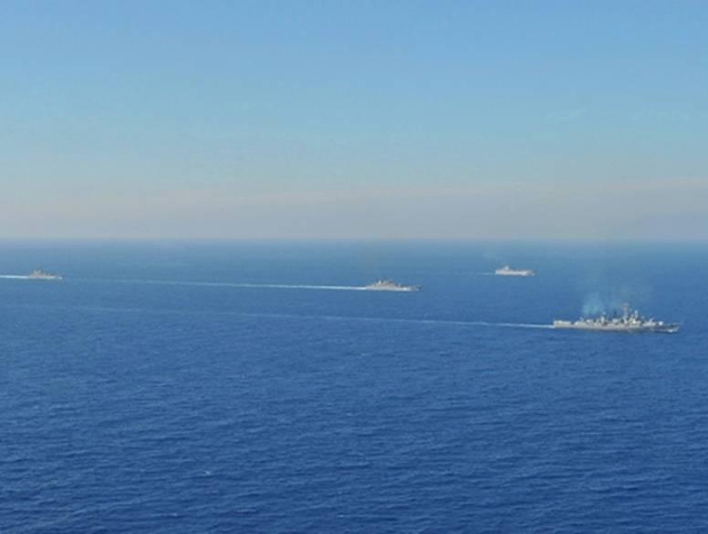 В Средиземноморье проходит учение с кораблями Черноморского флота