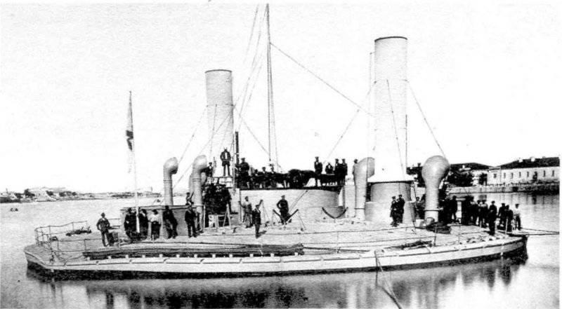Flota rusa del mar negro en vísperas de la guerra con Turquía