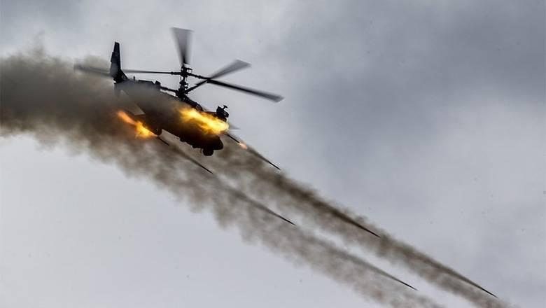 Первые удары Ка-52 по сирийским боевикам