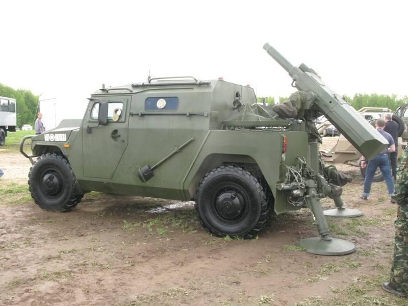 «Тигр-М» со 120-мм минометом
