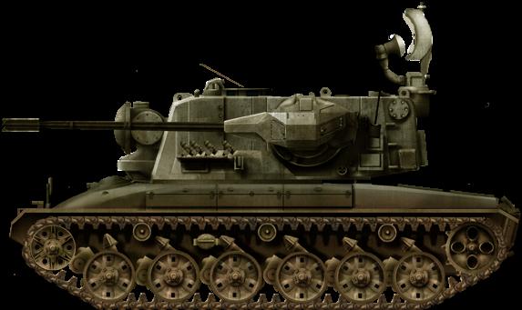 Зенитная самоходная установка Fliegerabwehrpanzer 68 (Швейцария)