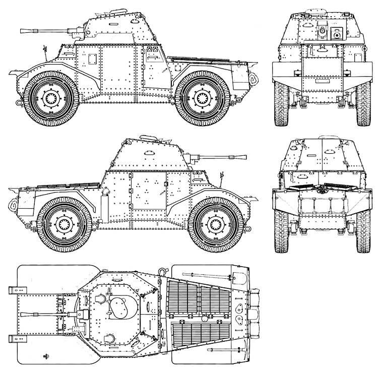 Колёсная бронетехника времен Второй мировой. Часть 5. Французский бронеавтомобиль Panhard 178/AMD 35