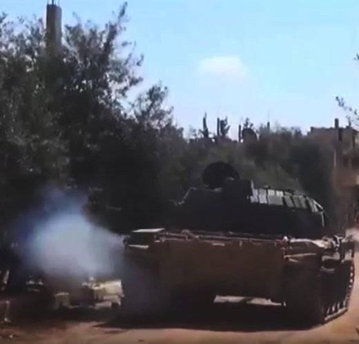 """Сирийский Т-55 с ДЗ """"Контакт-1"""""""