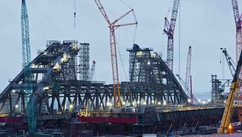 Силовые структуры провели учение на стройплощадке Крымского моста